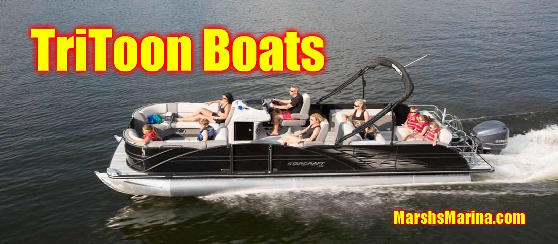 In-Stock Tritoon Pontoon Boats